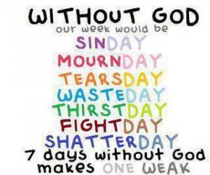 Christian Quotes week weak days