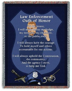 Personalized Police Oath Inspirational Tapestry Throw