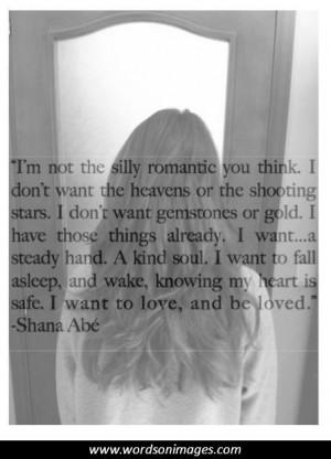 Romantic sayings ...