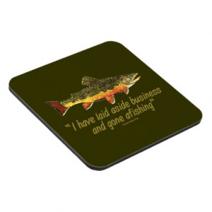 Izaak Walton Fishing Quote Coasters