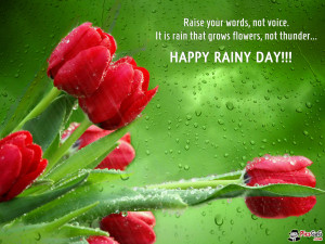 Happy Rainy Day Quote Wallpaper and SMS Message To Enjoy Rainy Days.