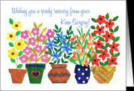 Speedy Recovery from Knee Surgery - 'Flower Power' card - Product ...