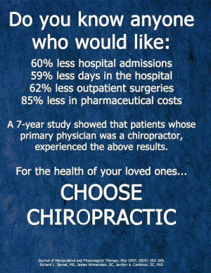 Year Study on chiropractic and medical costs
