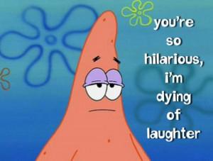 funny, patrick, sarcasm