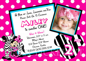 Minnie Mouse P O Birthday Party Invitations Mickey Diy Ecbaff