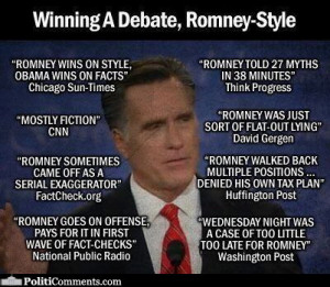 Newspaper Quotes on Romney's Debating Style: Light on Facts, Heavy on ...