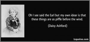 More Daisy Ashford Quotes