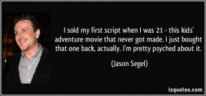 More Jason Segel Quotes
