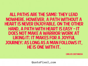 How to make photo quotes about inspirational - All paths are the same ...