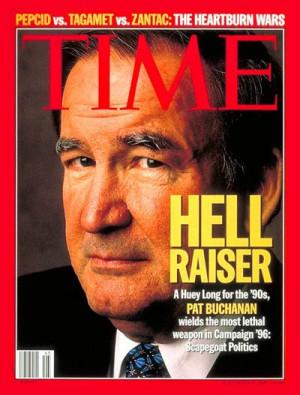 ... Memory Lane! Time and Newsweek ugly magazine covers of Pat Buchanan