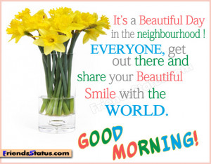 status quotes – best good morning quotes share your beautiful smile ...