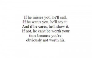 He's just not that into you!