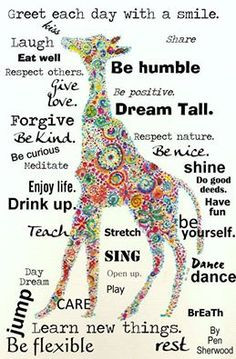 Quotes With Giraffes, Positive Quotes Kids, Quotes Positive Attitude ...