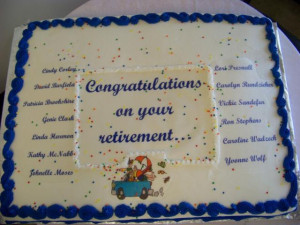 congratulation and best wishes on retirement cake beautifully design