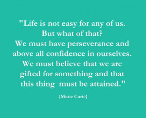 Life is not easy for any of us! #quote