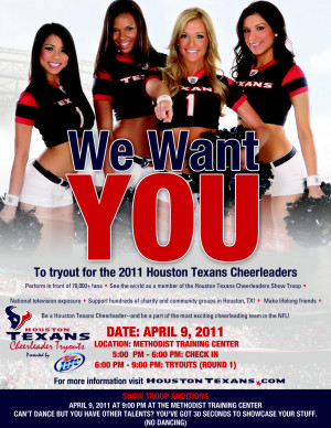 Cheerleading Tryout Flyer Picture