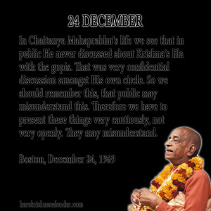 Srila Prabhupada Quotes For Month December 24