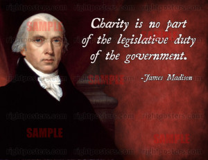 James Madison Charity Quote Poster