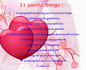 11 Painful Things About Love [Love Quotes]