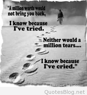 know because ive tried neither would a million tears letting go quotes
