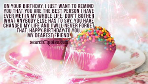 cute happy birthday best friend quotes