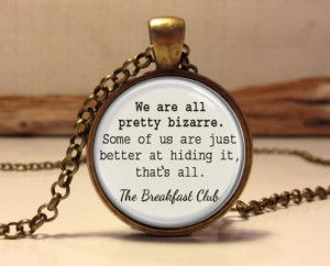 The Breakfast Club quote pendant. The Breakfast Club words necklace ...