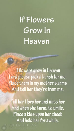 Search Results for: Poems About Flowers In Heaven