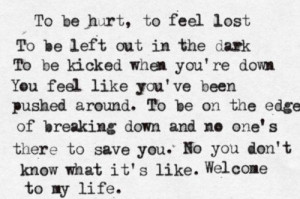 Simple plan welcome to my life. I LOVE THIS SONG!!!