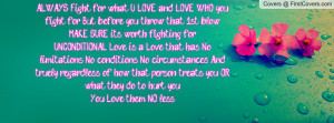 Deep Love Always Worth Fighting For Facebook Quote Cover