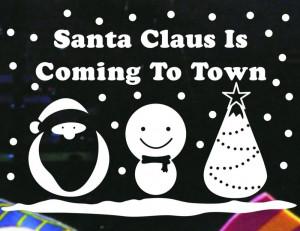 weihnachten weihnachtsmann schneemann baum Familie vinyl wand fenster ...
