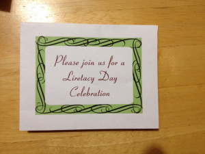 My friend got this invitation after his daughter won a Literacy Day ...
