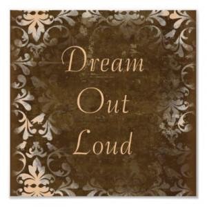 Vintage Dream Quote Poster Print