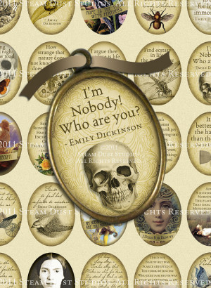 Emily Dickinson Poetry, Literary Quotes - 30x40mm Ovals, Cameo ...