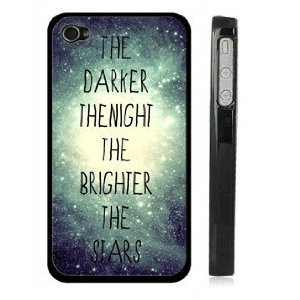 ... stars quote iphone cover the darker the night the brighter the stars