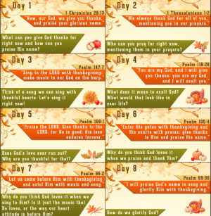 Thanksgiving Bible Verses – Free Thanksgiving Countdown Printable