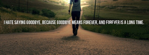 hate saying goodbye Facebook timeline cover
