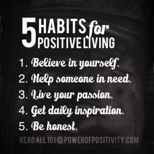 Habits for Positive Living.....