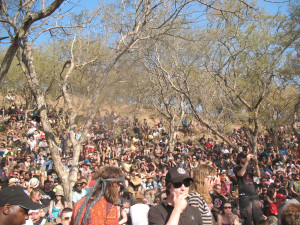 Crowd at Albert Frost amp Vusi Mahlasela Oppikoppi Sexy Crooked