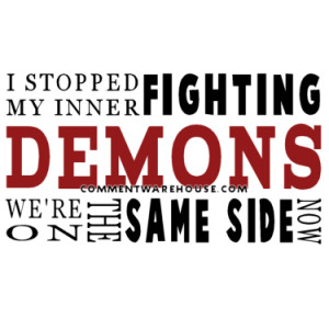 download this Quote Funny Quotes Stopped Fighting Inner Demons picture