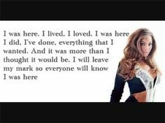 Beyonce I Was Here Quotes Beyonce -