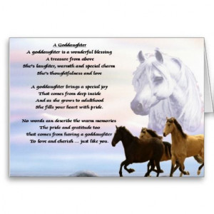 Horses goddaughter poem cards