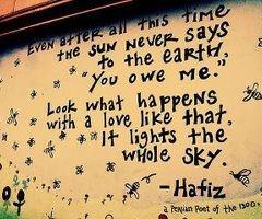 hafiz love for the sun