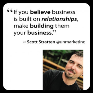 Stratten quote - If you believe business is built on relationships ...
