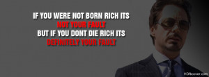 Be rich quotes facebook cover photo