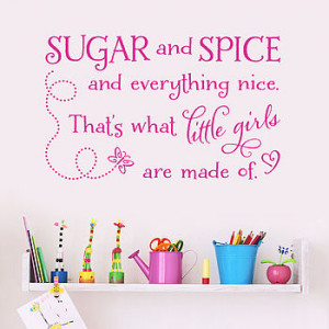 homepage > MAKING STATEMENTS > 'SUGAR AND SPICE' QUOTE WALL STICKER