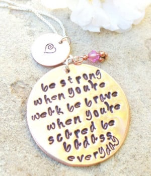 inspirational necklace, fight back to cancer, be strong when you are ...