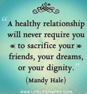 Quotes & Pics | Healthy relationship quote via www.LiveLifeHappy.com