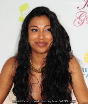Melanie Fiona in Singer Melanie Fiona visits the press tent during The ...