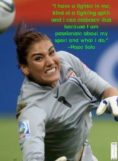 Fighting Spirit - Hope Solo Motivation Series #1 I play soccer and I'm ...