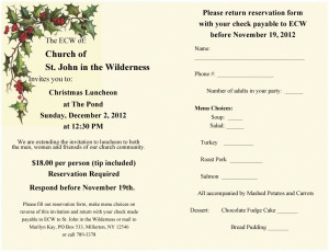 Church Luncheon Invitations
